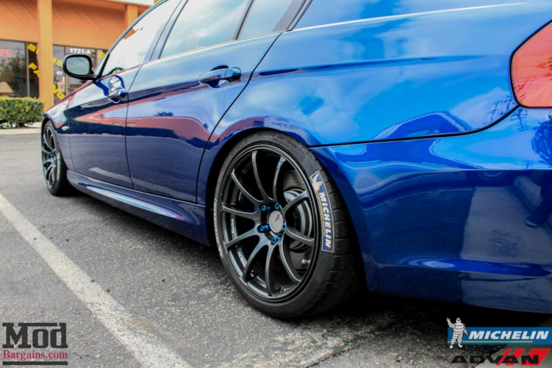 BMW_E90_335i_Advan_Michelin_Blue_roof_rack_ae_exhaust-8