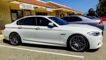 F10 BMW 550i on 20in Eurosport Monza Wheels