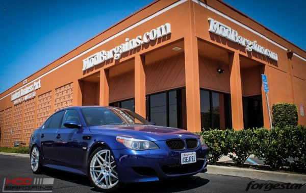 Quick Snap: Stunning E60 BMW M5 on Forgestar F14s in Silver 20×9 / 20×10.5 Fitment