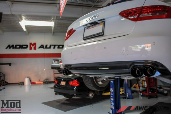 Quick Snap: AWE Tuning Quad Exhaust for Audi A5 2.0 TFSI [B8.5] Installed