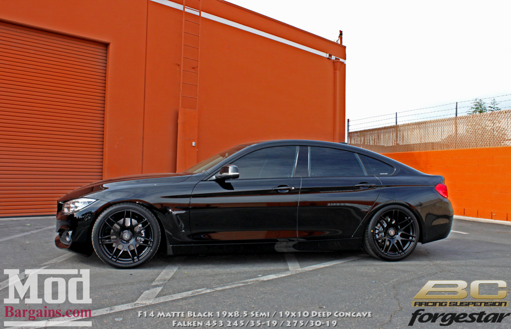 bmw 428i grancoupe on forgestar f14 matte black wheels. Black Bedroom Furniture Sets. Home Design Ideas