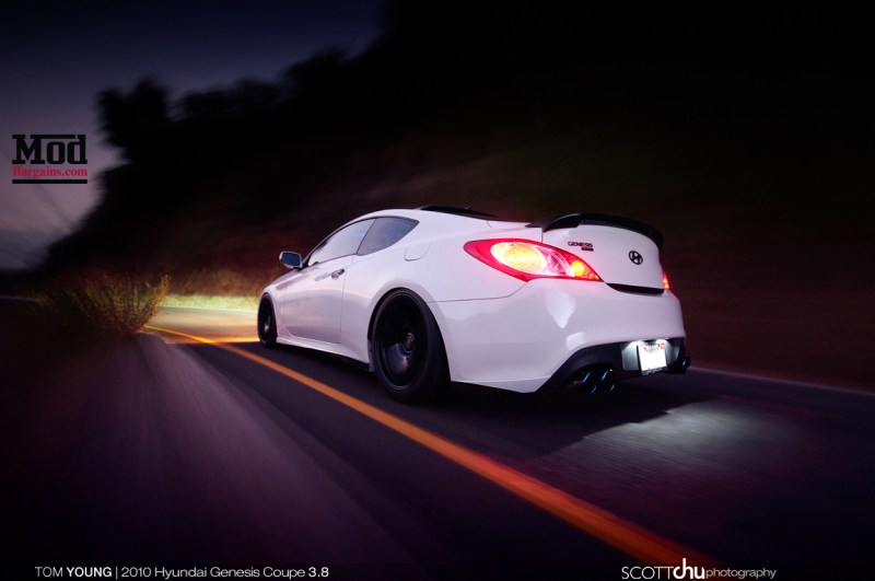 Hyundai Genesis Coupe w/ Forgestar F14 Wheels - Front 19x9 Rear 19x10