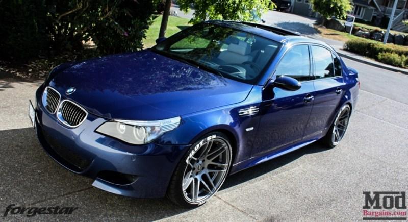 BMW E60 M5 Blue Forgestar F14 20x95et9 20x11et29 SDC-1