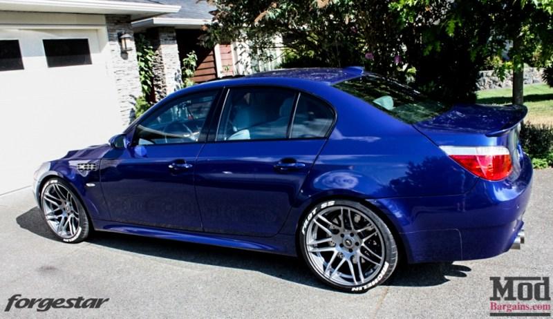 BMW E60 M5 Blue Forgestar F14 20x95et9 20x11et29 SDC-6
