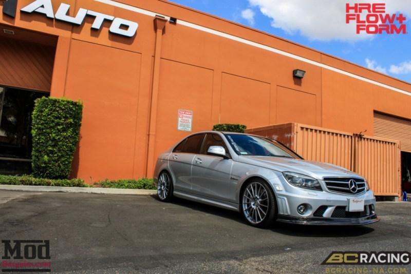 Mercedes_W204_C63_AMG_BC_ER_Coilovers_HRE_FF15_CF_Lip_Diffuser-1