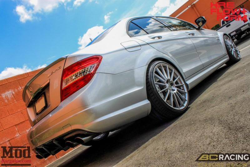 Mercedes_W204_C63_AMG_BC_ER_Coilovers_HRE_FF15_CF_Lip_Diffuser-4