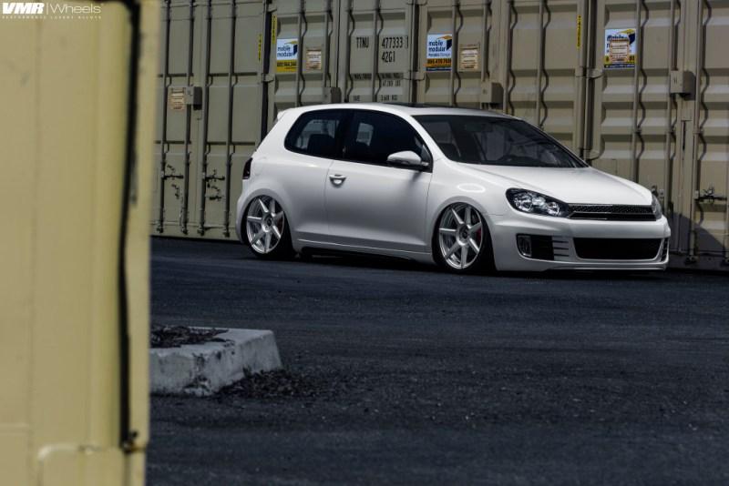 VW MK6 GTI White - VMR V706 MatteHSL 19x85et45 img (5)