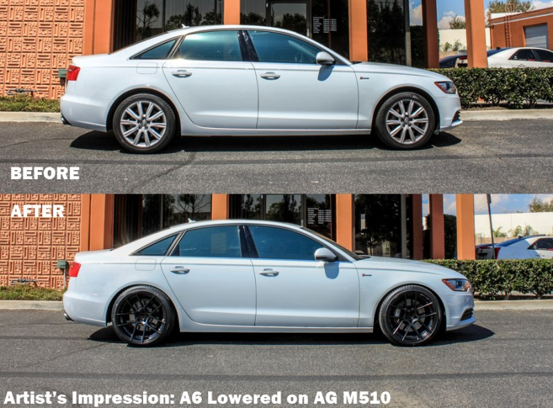 Audi-C7-A6-Tanner-Pearson_LA_KINGS-Avant_Garde_M510-lowered-before-after