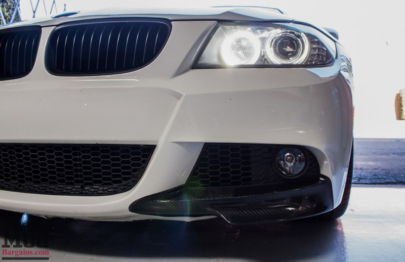 BMW_E90_White_CF_Splitters_Halos_Black_Kidneys-11