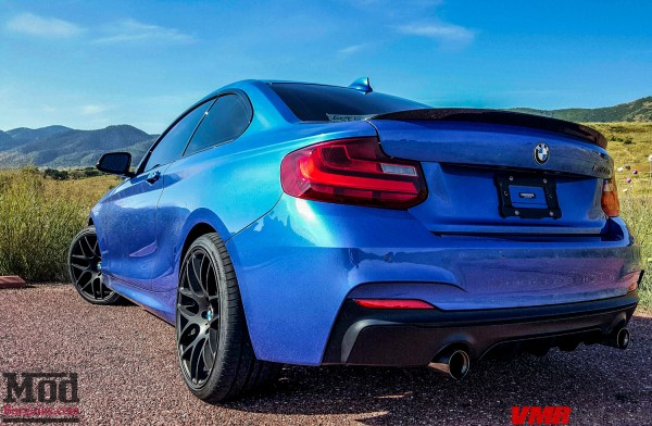 Quick Snap: Vaughn's F22 BMW M235i Xdrive on VMR V710 Wheels Carves The Backroads