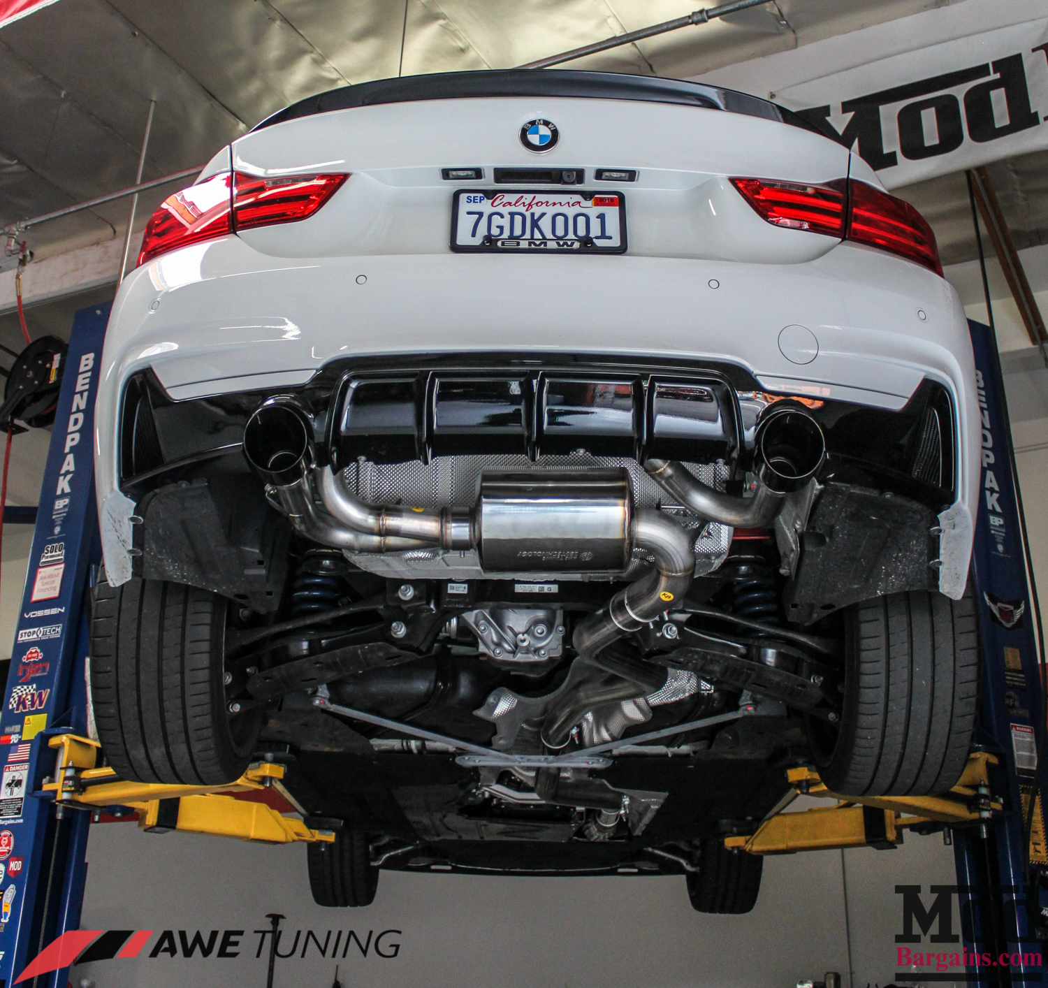 gorgeous f32 bmw 435i gets awe tuning exhaust installed. Black Bedroom Furniture Sets. Home Design Ideas