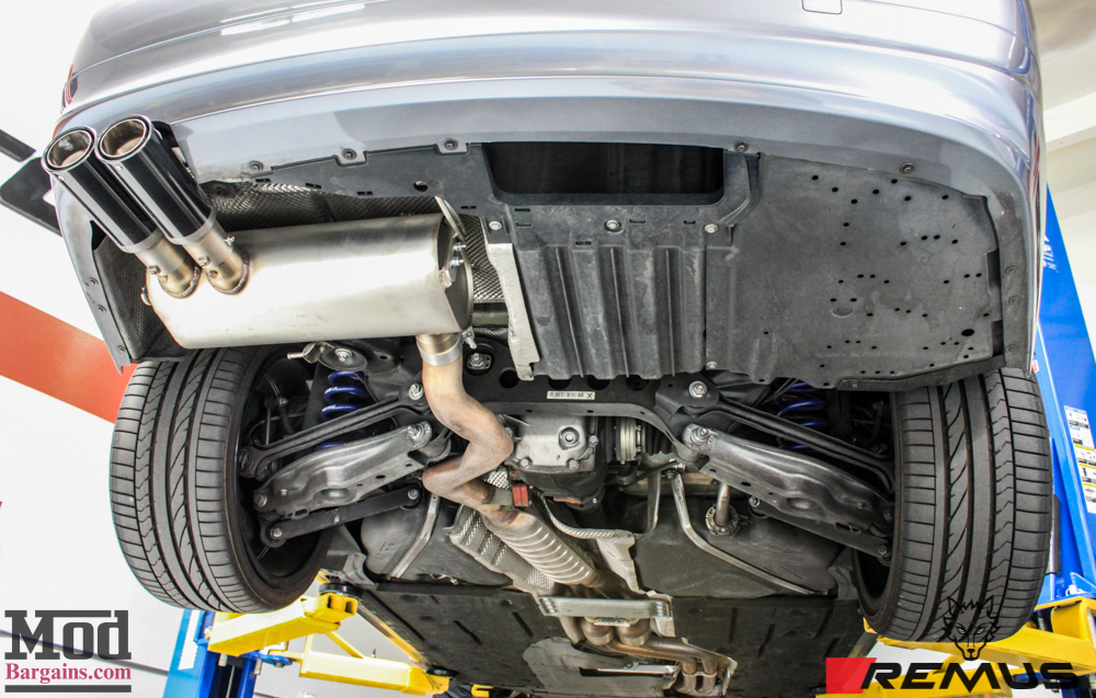 CF-Trimmed E90 BMW 328i Exhaust By Remus Install Pics