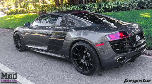 Audi R8 Forgestar CF10 Gloss Black 19x85 19x11 Michelin PSS Tires 001