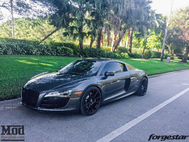 Audi R8 Forgestar CF10 Gloss Black 19x85 19x11 Michelin PSS Tires 006
