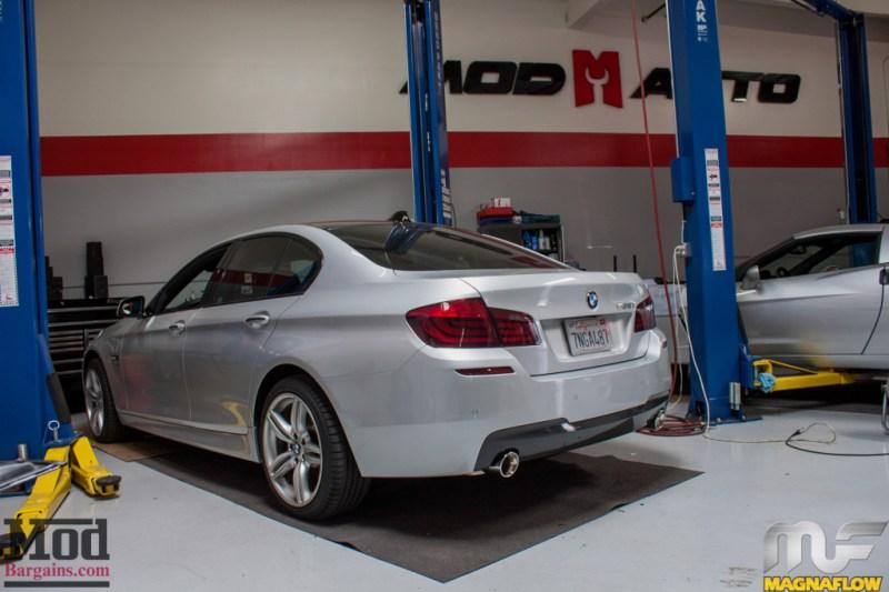 BMW F10 535i Silver Magnaflow Catback Exhaust (12)