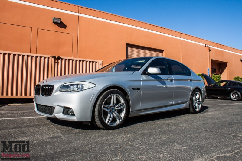 BMW F10 535i Silver Magnaflow Catback Exhaust (19)