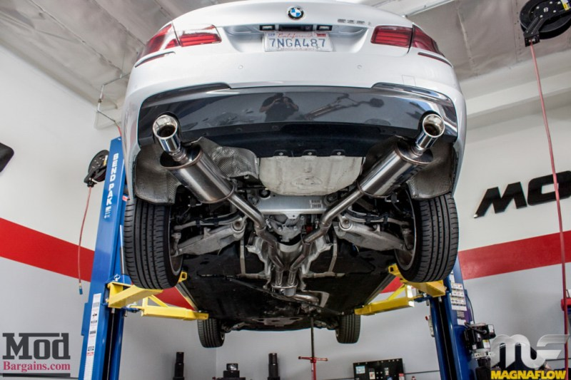BMW F10 535i Silver Magnaflow Catback Exhaust (4)