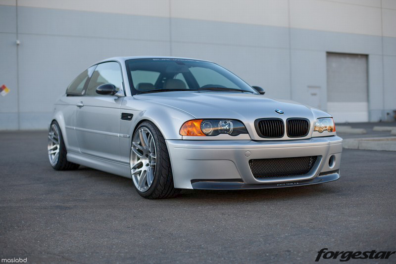 BMW_E46_M3_Silver_Forgestar_F14_Handbrushed_19x10_19x11_img001