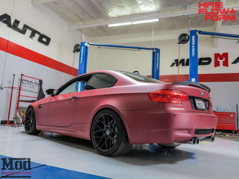BMW_E92_M3_Matte_Red_Temoor_HRE_FF01_Tarmac (13)
