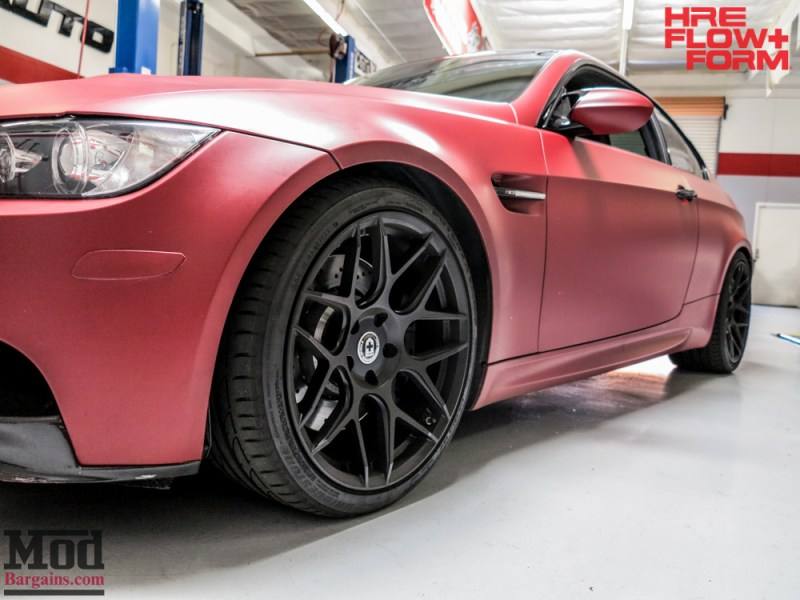BMW_E92_M3_Matte_Red_Temoor_HRE_FF01_Tarmac (4)