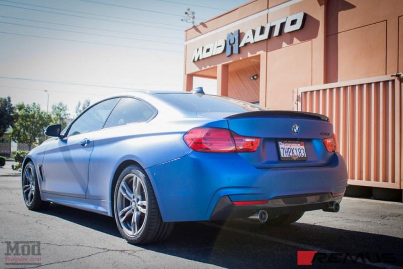 BMW_F32_435i_MatteBlue_Remus_Exhaust-3