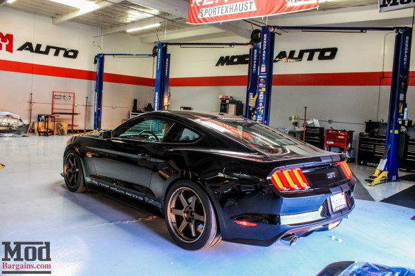 Michael's S550 Mustang GT on Volk TE37s gets BMR Suspension & MGW Race Shifter @ ModAuto