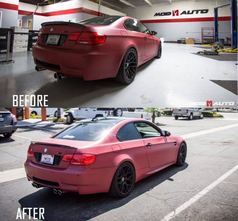 BMW E92 M3 Temoor HRE FF01 Remus CarbonRace BeforeAfter