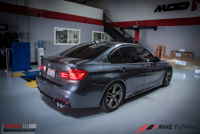 BMW_F30_328i_M4_Bumper_AWE_Quad_Exhuast_Msport_rear_Lowered (12)