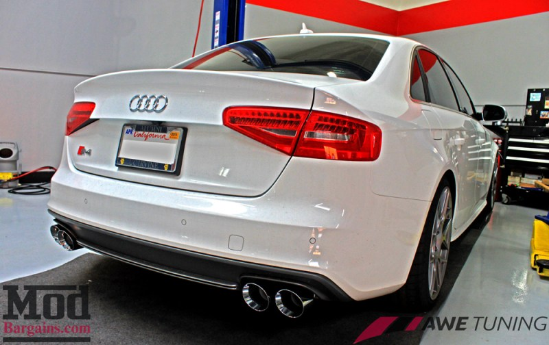 AWE exhaust installed on our customer's B8.5 S4.