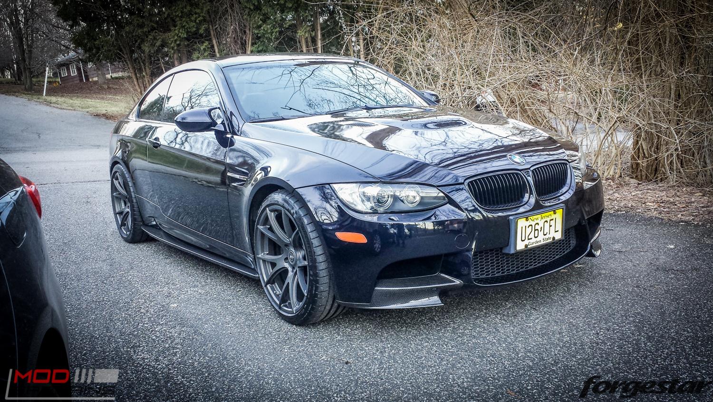 Jeff D's E92 BMW M3 on Super Wide Forgestar CF5V Wheels