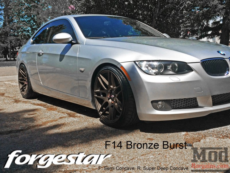 BMW E92 335i Forgestar F14 Bronze Burst 19x85 19x10 002