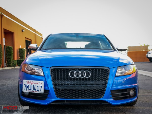 Quick Snap: Sepang Blue B8 Audi S4 gets RS style Grille At ModAuto