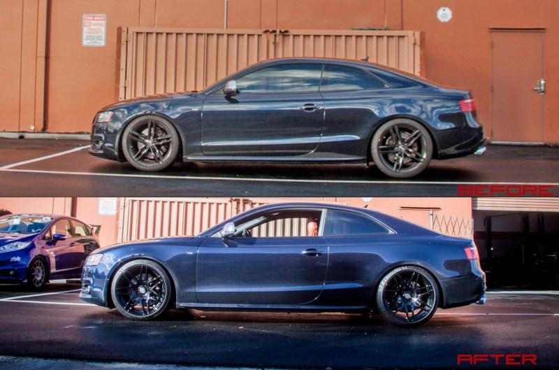Audi_B8_S5_AWE_Forgestar_F14_Black_side_beforeafter