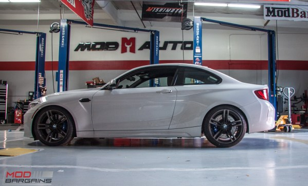 Quick Snap: F87 BMW M2 gets BMW Performance Coilovers & Black Accents @ ModAuto