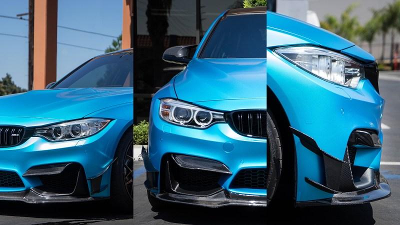BMW F80 M3 vorsteiner morph auto design canards front upper valence design S GT