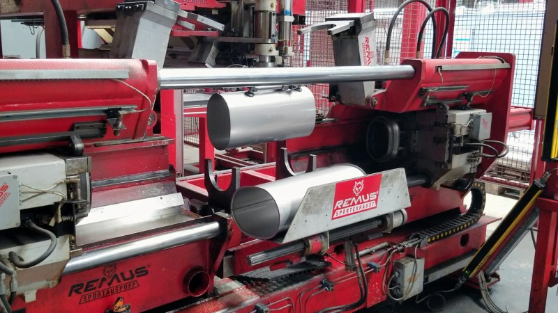 Remus Exhaust Canister Roll Forming Prep