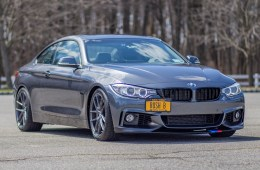 BMW 428i with m-sport front bumper on niche m-129 wheels with wagner intercooler