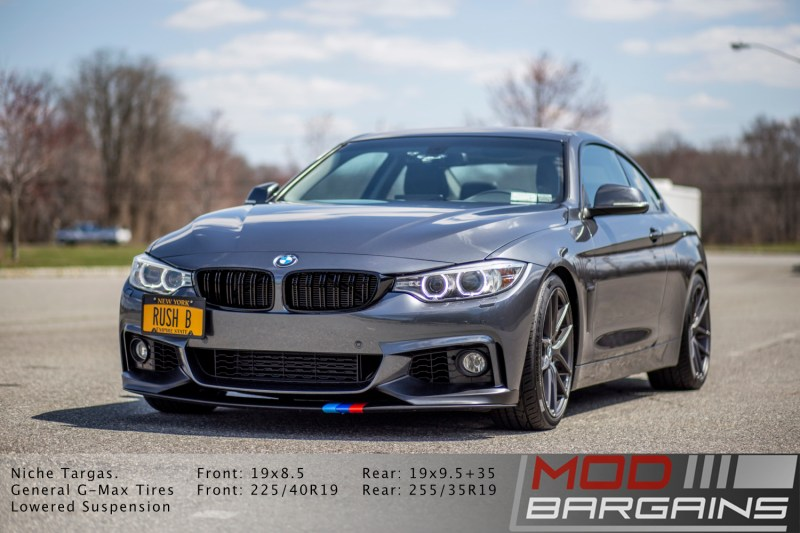 BMW 428i with m-sport front bumper and niche m-129 wheels