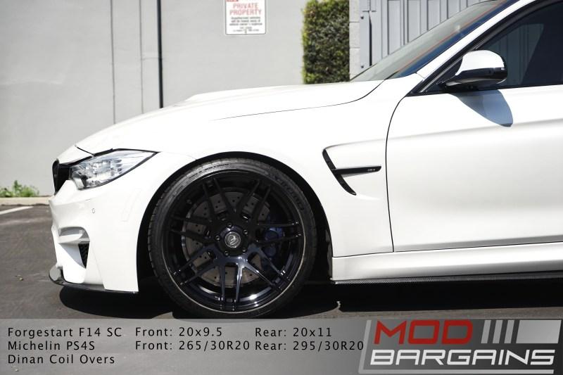 BMW, BMW M3, F80 M3, Performance, side view, forgestar, f14