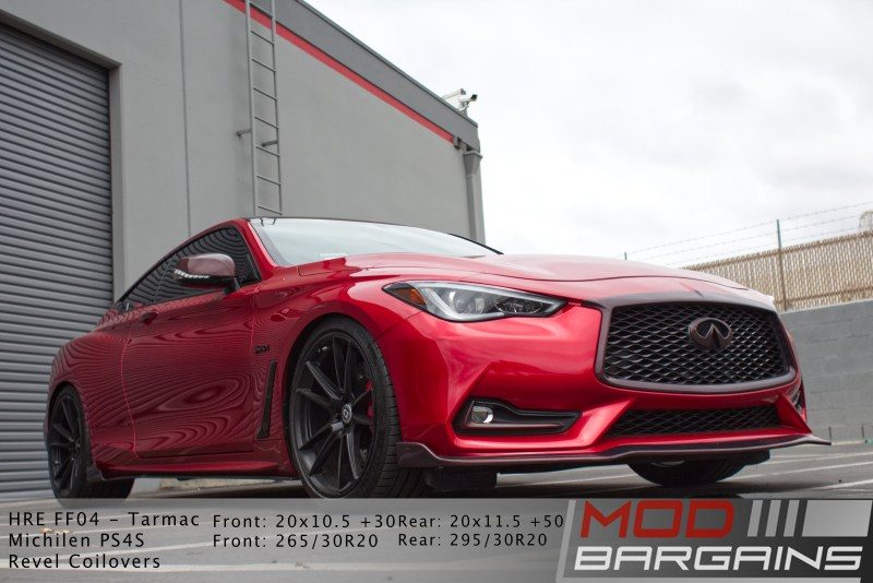Q60, Infinity, HRE, Wheels, Red Sport, Carbon Fiber