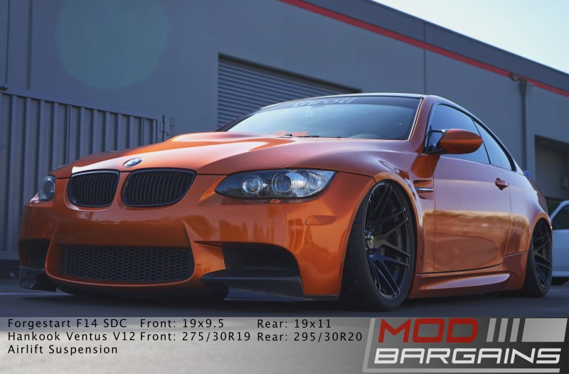 E92 M3, front end, Carbon Fiber, Forgestar, Bagged, Borla exhaust