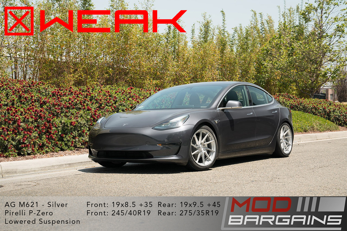 Tesla Model 3 AG 19x8.5 Weak Fitment