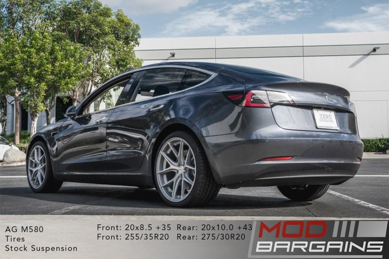 Tesla Model 3 on Avant Garde AG M580 Wheels 20x8.5 front and 20x10 rear