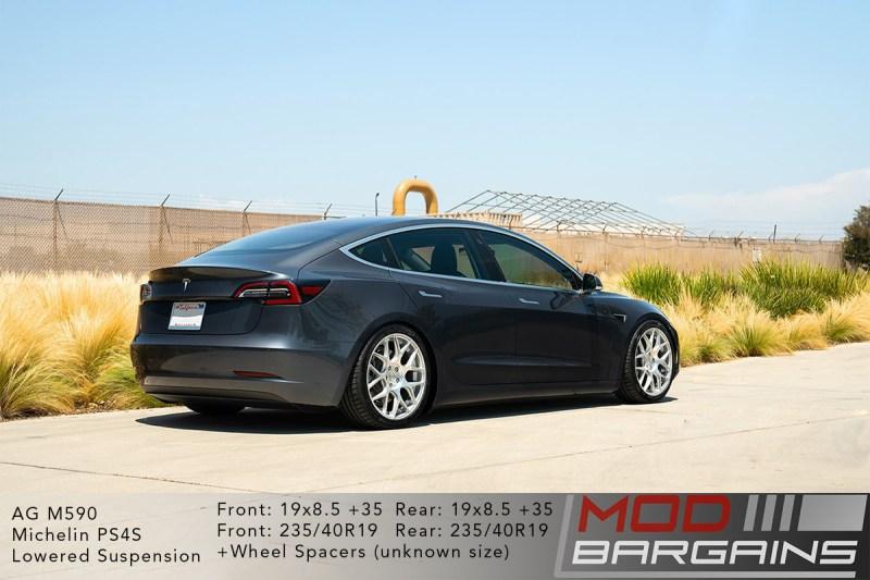 Tesla Model 3 on Avant Garde AG M590 Wheels 19x8.5 front and rear
