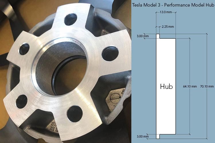 Tesla Model 3 - Performance Model Step Hub