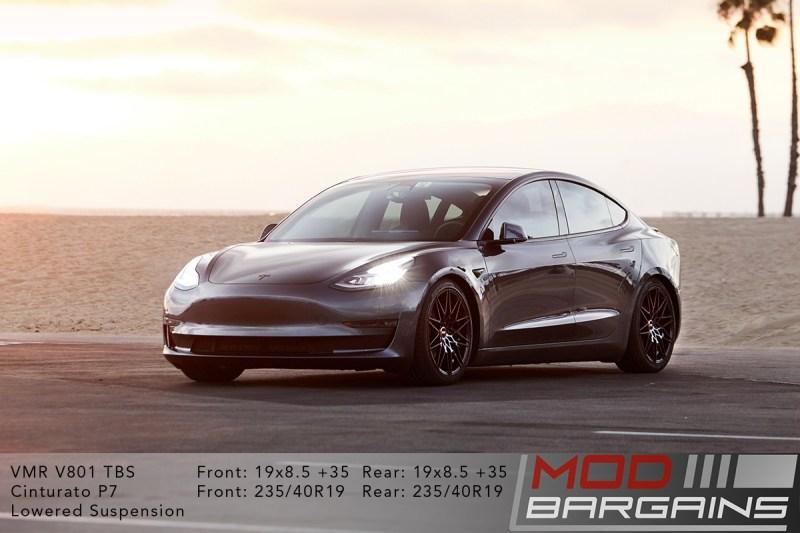 Tesla Model 3 on VMR V801 19x8.5 +35 front and rear