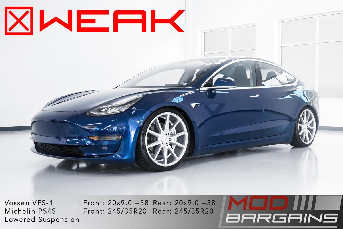 Tesla Model 3 20x9 Weak Fitment