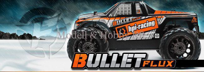 HPI Bullet Flux MT – elektromos, RTR, 1/10-es méretarányú, Monster Truck modellautó
