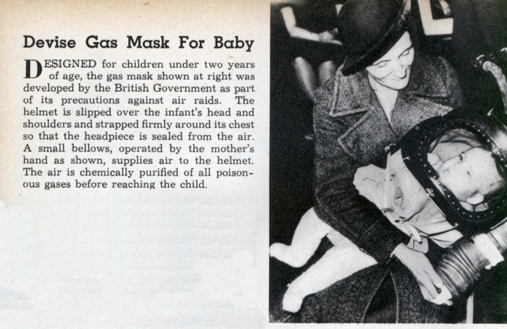 Gas Mask For Baby