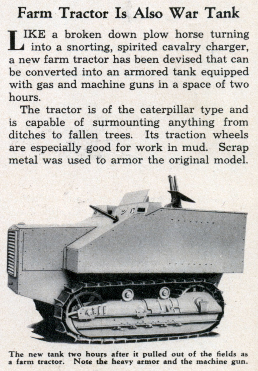 Farm Tracktor is also War Tank